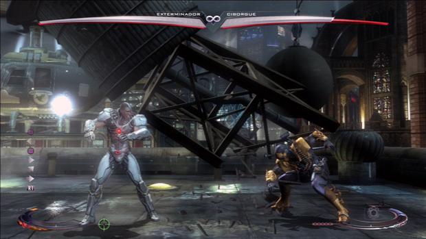 Exterminador atira estrutura de cenário em Ciborgue. (Foto: Reprodução)