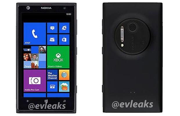Novo Lumia 1020: traseira revela uma câmera proeminente (Foto: Reprodução/@EvLeaks)