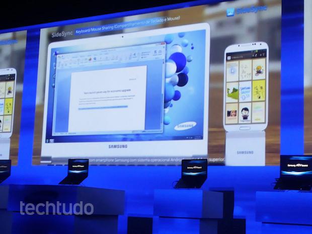 Samsung apresenta como funciona o recurso SideSync (Foto: TechTudo/Pedro Zambarda)