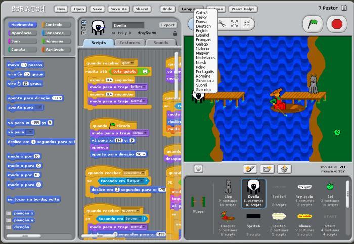 O Scratch possibilita a crianças entender a lógica de programação de um jeito simples: encaixando blocos (Foto: Divulgação)