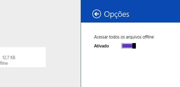 Ativando acesso offline dos arquivos (Foto: Reprodução/Helito Bijora)