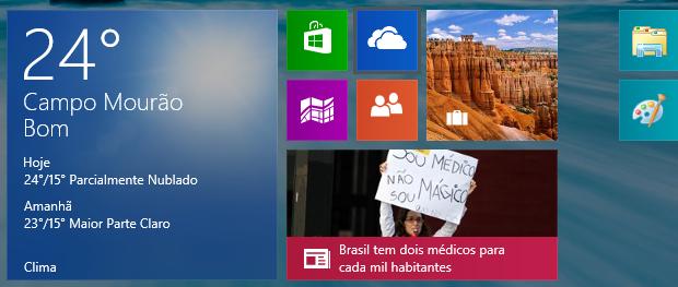 Abrindo o SkyDrive na tela Iniciar (Foto: Reprodução/Helito Bijora)