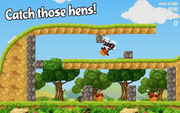 Flying Fox é um divertido jogo onde você controla uma raposa voadora (Foto: Divulgação)