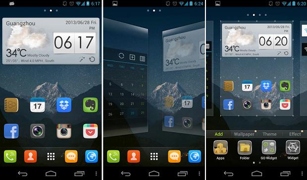 Go é um dos mais populares launchers do Android (Foto: Reprodução Thiago Barros)