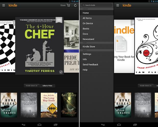 Kindle tem diversos livros eletrônicos disponíveis (Foto: Reprodução Thiago Barros)