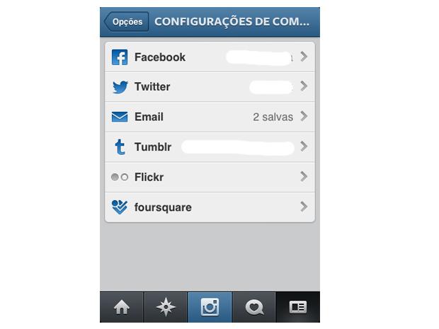 dicione emails a opção de compartilhamento do Instagram (Foto: Reprodução/Marvin Costa)