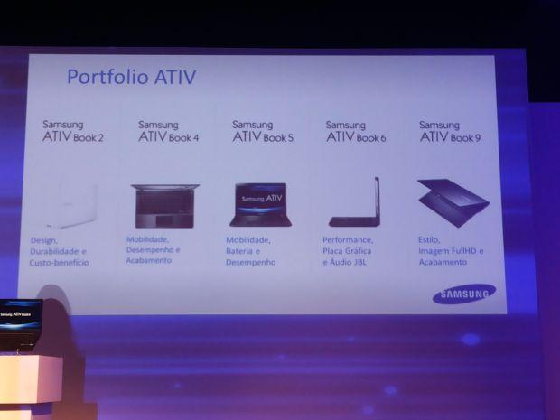 Todos os notebooks da linha Ativ, da Samsung (Foto: Pedro Zambarda/TechTudo)