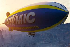 Dirigível da Atomic é bônus na pré-venda de GTA 5 (Foto: attackofthefanboy.com)