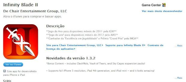 Infinity Blade II está de graça na App Store (Foto: Divulgação/Apple)