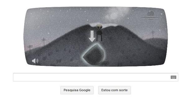 """Pegue a primeira peça da nave espacial em """"Incidente com OVNI em Roswell"""" (Foto: Reprodução/Google)"""