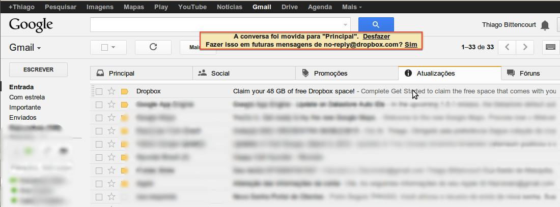 """Ao escolher a opção """"Sim"""", o Gmail sempre se lembrará de sua preferência (Foto: Reprodução / Thiago Bittencourt) (Foto: Ao escolher a opção """"Sim"""", o Gmail sempre se lembrará de sua preferência (Foto: Reprodução / Thiago Bittencourt))"""