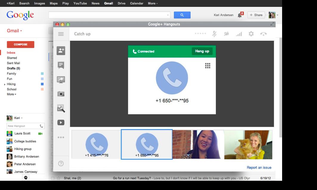 Google Voice volta integrado ao novo Hangouts dentro do Gmail e no app (Foto: Divulgação)