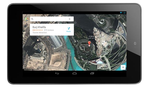 Google Maps disponível para tablets com Android e, em breve, para iPads (Foto: Divulgação/Google)
