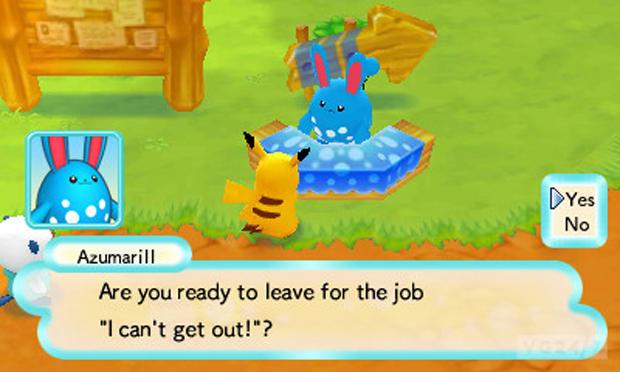Escolhendo uma missão em Pokémon Mystery Dungeon (foto: Divulgação)