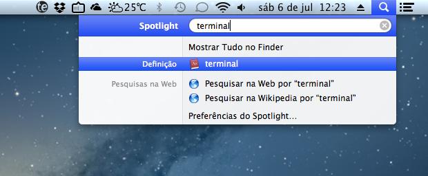Busca do Spotlight não apresenta resultados (Foto: Reprodução/Helito Bijora)