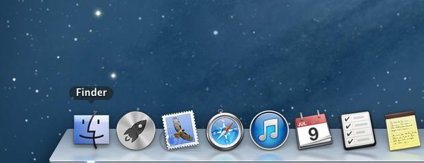 Clique sobre o ícone do Finder, na Dock (Foto: Reprodução/Helito Bijora)