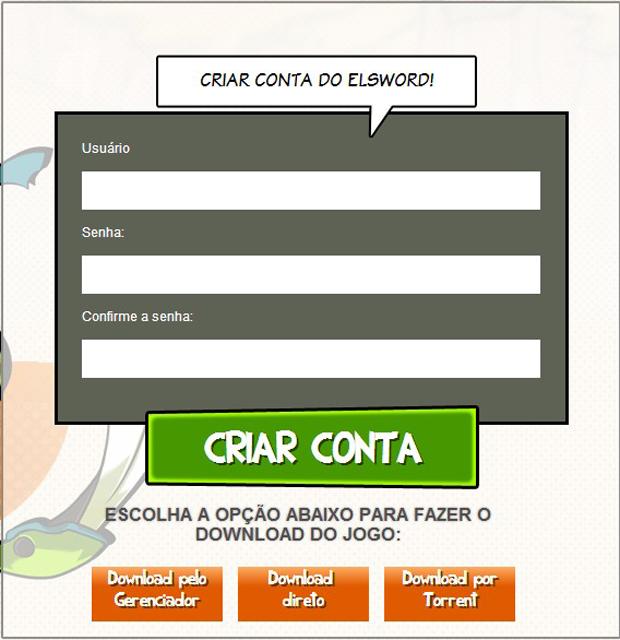Crie uma conta em Elsword para jogar (Foto: Divulgação)
