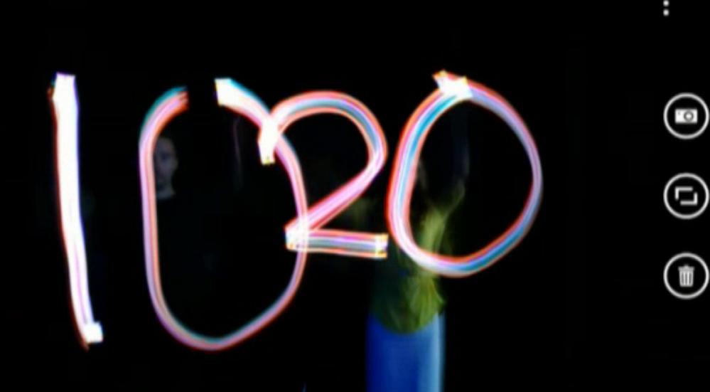 """""""1020"""" criado com o modo de longa exposição do Lumia 1020 (Foto: Reprodução)"""