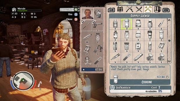 O complexo e interessante inventário do jogo (Foto: Divulgação)
