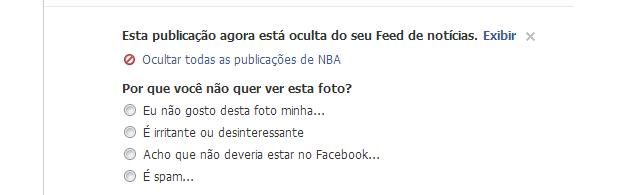 Marque a opção de ocultar todos os posts (Foto: Reprodução/Thiago Barros)