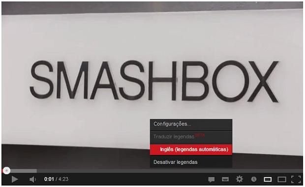 Muitos vídeos têm legendas em seu idioma original (Foto: Reprodução/Aline Jesus)