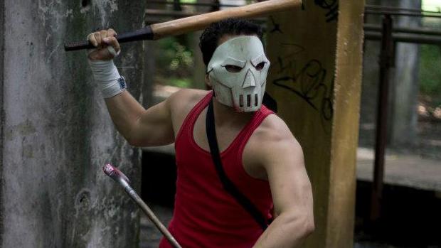 Cappela em seu cosplay de Casey Jones. (Foto: Jonathan Silva)