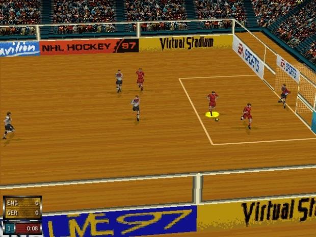 O futebol indoor, semelhante ao futsal, esteve presente em Fifa 97 (Reprodução/Moddb/TechTudo)