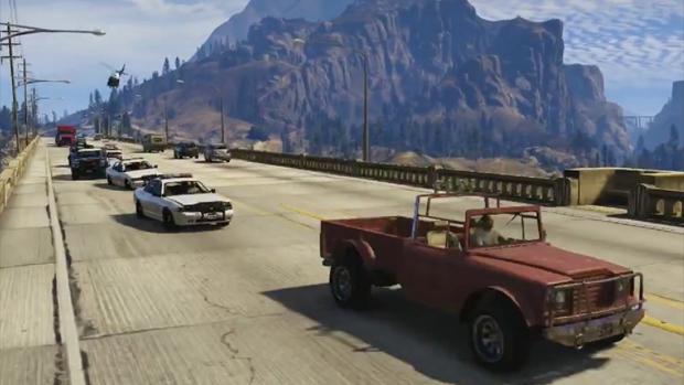 Trevor de GTA 5 causa problemas para a polícia de Los Santos (Foto: Reprodução)