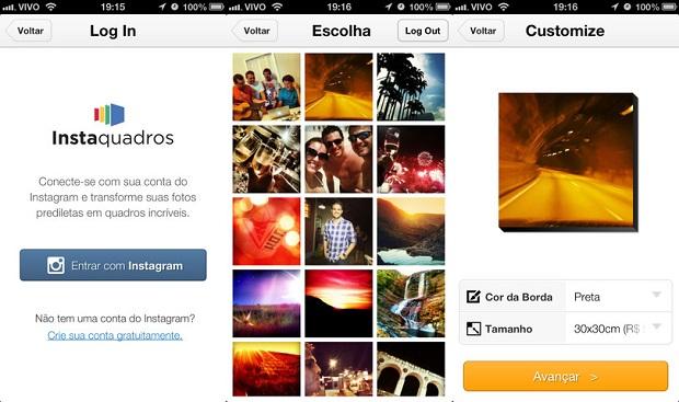 Instaquadros permite imprimir suas fotos do Instagram em quadros personalizados (Foto: Divulgação)