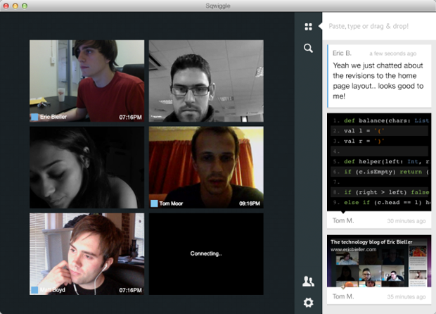 Sqwiggle permite juntar colegas de trabalho em ambientes diferentes (foto: Divulgação)