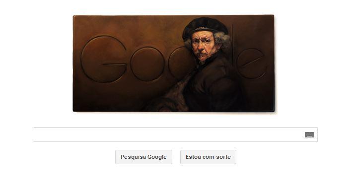 Rebrandt van Rijn é homenageado com um doodle do Google (Foto: Reprodução/Google)
