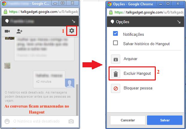 Acesse as configurações do Hangout para excluí-lo (Foto: Reprodução/Thiago Bittencourt) (Foto: Acesse as configurações do Hangout para excluí-lo (Foto: Reprodução/Thiago Bittencourt))