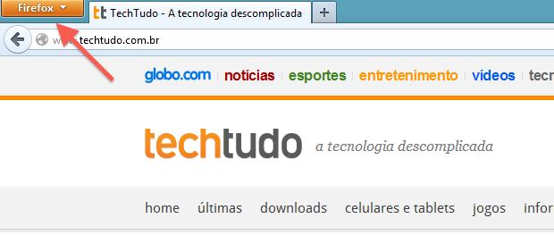 Acessando menu do Firefox (Foto: Reprodução/Helito Bijora)