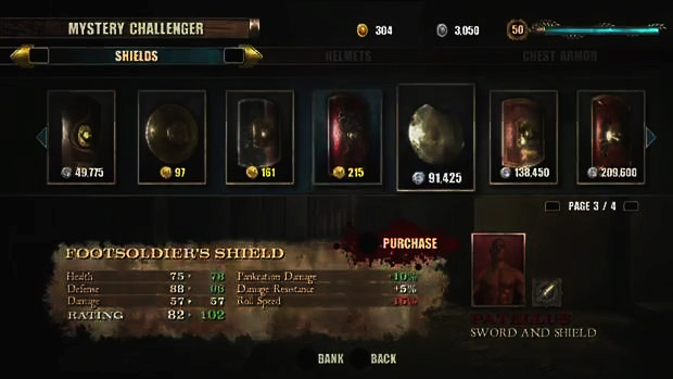 Escolher a arma certa é fundamental em Spartacus Legends. (Foto: Reprodução)
