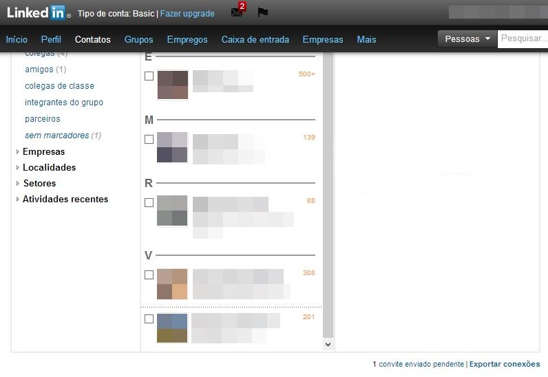Opção de exportar a sua lista de contatos do LinkedIn (Foto: Reprodução/Carolina Ribeiro)