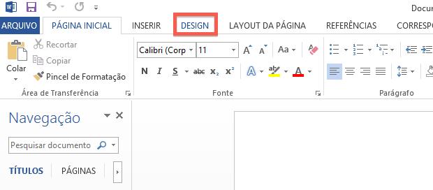 Como mudar o espaamento padro de linhas no word 2013 dicas e acessando a guia design foto reproduohelito bijora ccuart Images