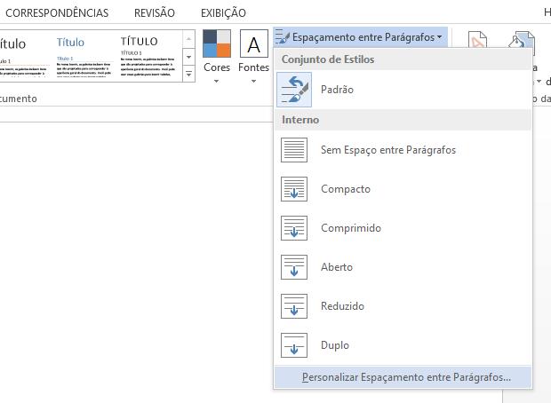 Como mudar o espaamento padro de linhas no word 2013 dicas e configurando espaamento foto reproduohelito bijora ccuart Images