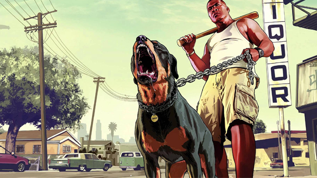 Depois de Call of Duty: Ghosts, GTA 5 traz agora um cão coadjuvante, Chop (Foto: youtube.com)