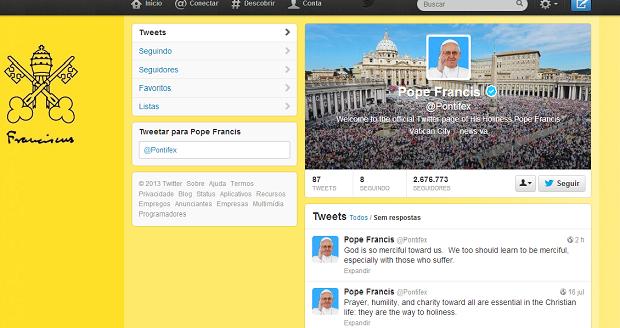 Papa Francisco concederá indulgências pleanárias pelo Twitter (Foto: Twitter/Reprodução)
