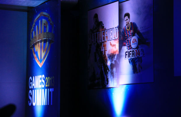 Banner do Warner Bros. 2013 Games Summit (Foto: TechTudo / Renato Bazan)