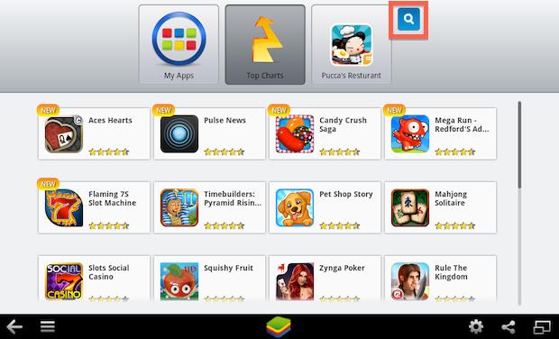 Buscando por app no BlueStacks (Foto: Reprodução/Helito Bijora)