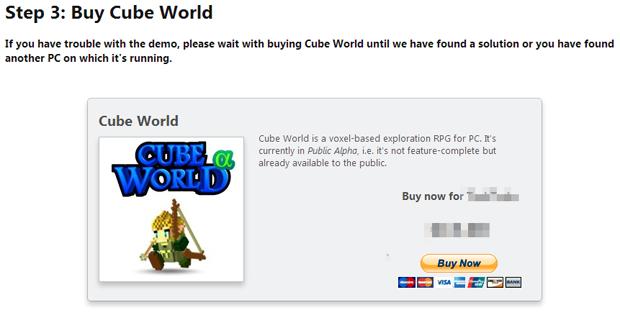 Comprando Cube World (Foto: Reprodução/Silas Tailer)