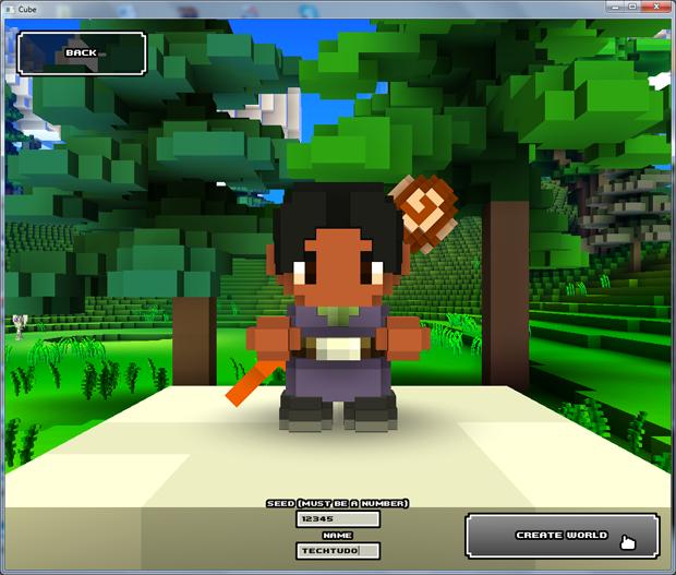 Criando mundo em Cube World