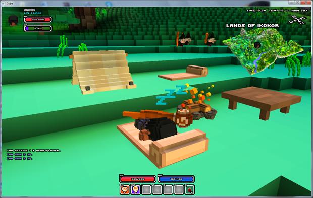 Lugares para descanso em Cube World