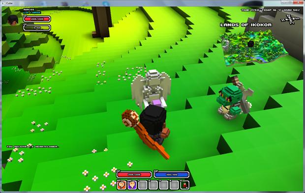 Revivendo em Cube World