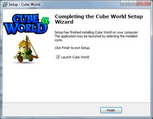 Cube World Finalizando Instalação