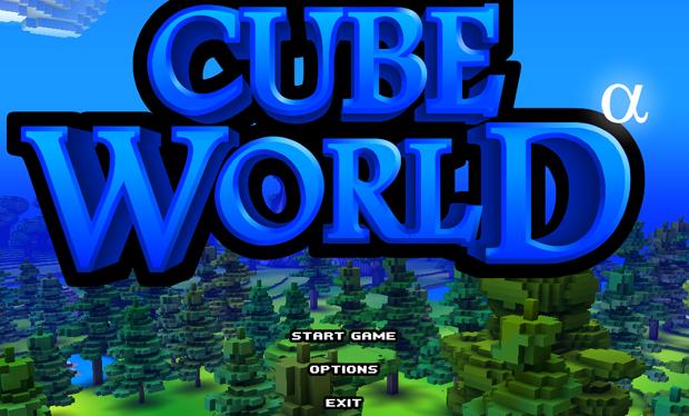 Cube World Menu Inicial