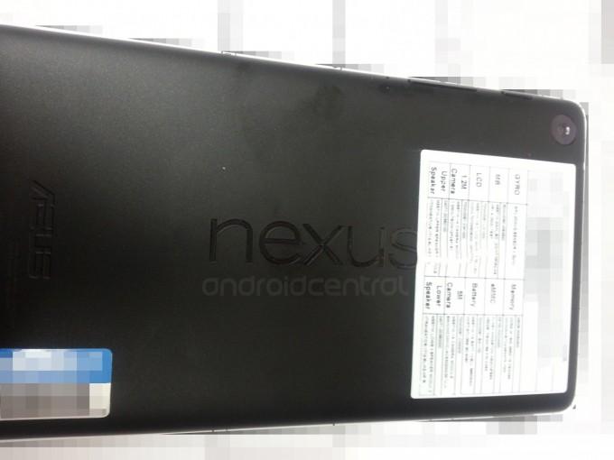 Novo Nexus 7 agora traz logo horizontal e câmera para fotos (Foto: Reprodução / Android Central)