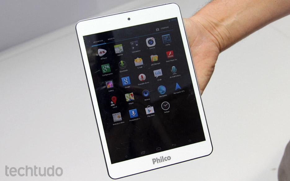 Protótipo de tablet Android com Quad-Core e tela de 7.polegadas da Philco (Foto: TechTudo / Rodrigo Bastos)