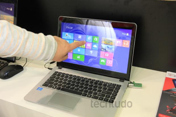 Ultrabook com tela touch (Foto: Rodrigo Bastos/TechTudo)
